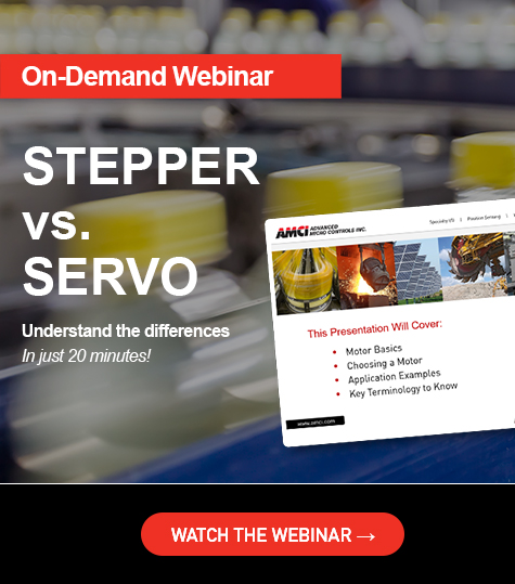 stepper vs servo webinar free on demand